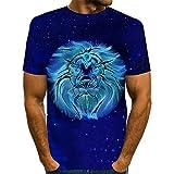 CFWL Camiseta De ImpresióN Digital 3D Camiseta De Verano De Manga Corta para Hombre Camiseta Cuello Redondo Suave BáSica Camiseta Hombre T-Shirt 3D...