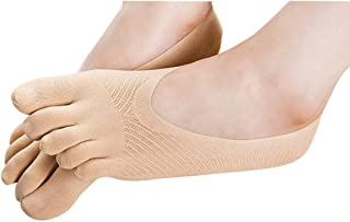 JustWin Womens Ultra-Thin Mesh Socks Shallow Mouth Non-Slip Silicone Low Help Invisible Socks Cotton Breathable Socks