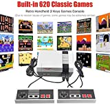 Retro TV Game Console Built-in 620 Classic Video Games Handheld Game Player, contains 620 super classic games massive games made you enjoy the childhood fun