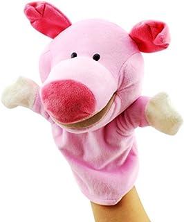 Isuper Marionetas de Mano,Peluche de Mano,Juquete Felpa de Mano de Dedo Diseño de Animal Lindo Peluche para bebé(Cerdo)