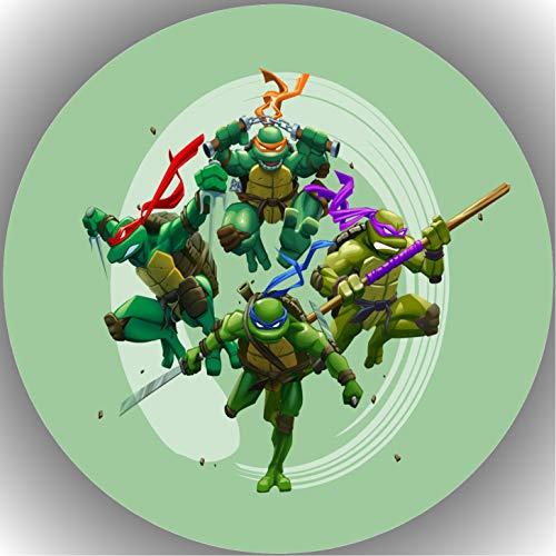 Fondant Tortenaufleger Tortenbild Geburtstag Turtles AMA11