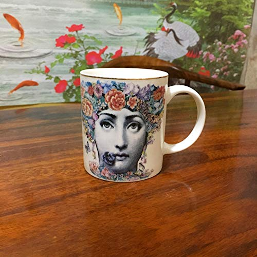 Fornase ttiqk Fornasetti Cup Fornasetti Koffie Mok Louisa Face Cup Porselein Cup Thee Beker Home Decoratie Kunst Mok Decoratieve Mok Drinkware