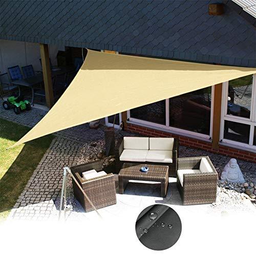 LCZHP Bloquear UV Refugio Tela de la Pantalla, 3 * 3 * 3 m (9.8 * 9.8 * 9.8 pies) Impermeable a Prueba de Viento de Sombra toldo, persiana de Tela de Patio Césped Jardín Terraza,Beige