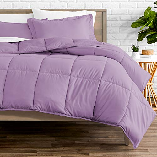 Bare Home Kids Comforter Set - Twin/Twin Extra Long - Goose Down Alternative - Ultra-Soft - Premium 1800 Series - Hypoallergenic - All Season Breathable Warmth (Twin/Twin XL, Lavender)