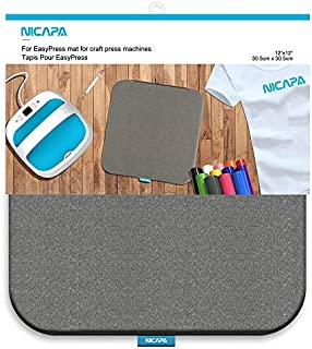Nicapa Heat Press Mat for Cricut Easypress[12x12 inch] Cricket Craft Vinyl Ironing Insulation Transfer Heating Mats for Easypress 2
