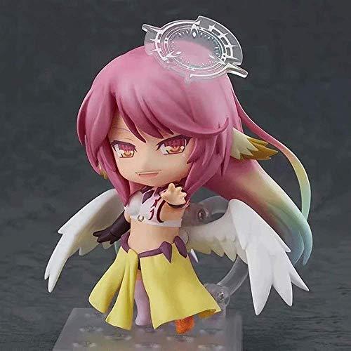 Zpzzy NO Game NO Life Jibril Q Version Anime Charakter Modell Mit Austauschbarem Zubehör PVC Material Figur Statue Anime Figur Desktop-Ornamente Geschenke, Die Kinder Und Anime-Fans Lieben