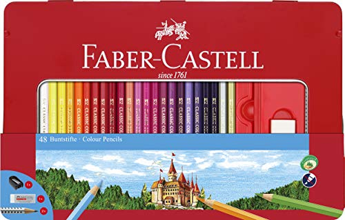 Faber-Castell 115886 - Buntstifte Hexagonal, 36er Metalletui