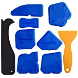 Kuuqa 9 Pieces Lisseurs de Joints Outils d'étanchéité Kit de Calfeutrage Outil de Scellage du dégraissant en Silicone Pour la Salle de Bain Cuisine et Joints d'étanchéité à Cadres