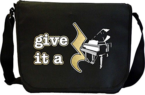 Musicalitee Piano Give It A Rest - Sheet Music Document Bag Musik Notentasche
