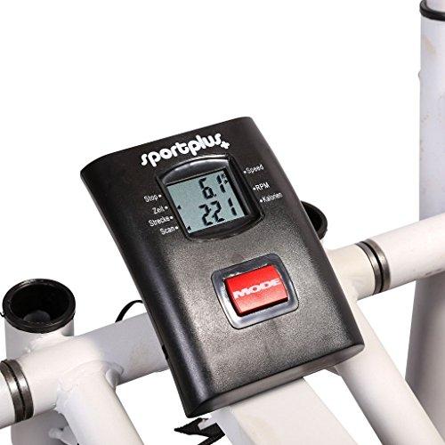 Sportplus Ellittica/Crosstrainer per Allenare Braccia e Gambe/Sistema Frenante a Cinghia, Resistenza Regolabile/Attrezzo Fitness Total Body