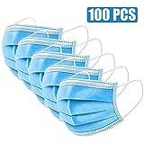 WWJJLL Protección de la Salud Transpirable, 100 PCS de protección Facial, Anti-alérgicos del Polen eficaz Impermeable Protector de Cara con 6 Protectores de la Cara y el oído extendido Ganchos
