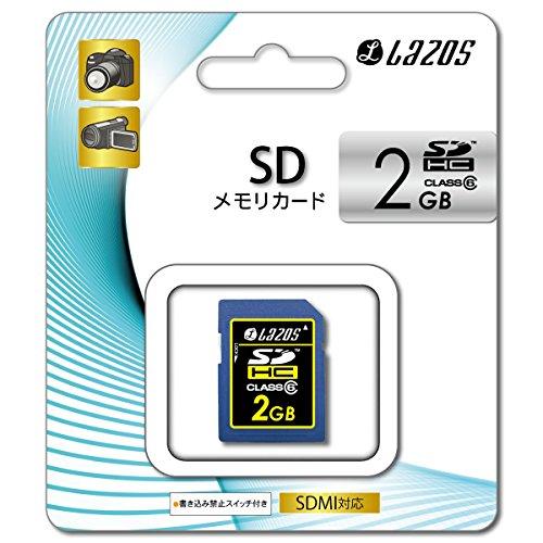 L-2SD6 LAZOS リーダーメディアテクノ SDHCメモリーカード 2GB CLASS6