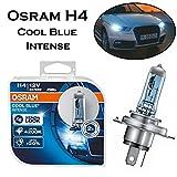 2x Osram H4 60/55W 12V Cool Blue Intense 4200K 64193CBI-HCB hell Weiß Xenon Look Ersatz Scheinwerfer Halogen Auto Lampe - E-geprüft