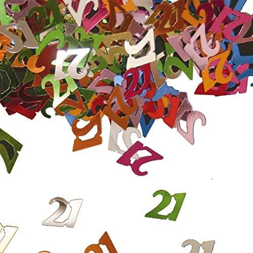 Folat-21 Anni Decorazione da tavola/Coriandoli Ornamentali, Multicolore, 1 x 14 g, 5312