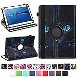 NAmobile Schutzhülle kompatibel für Huawei MediaPad T1 T2 T3 T5 10 Tablet Hülle Tasche Schutzhülle Case 360 Drehbar, Farben:Motiv 3