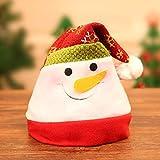 N/ YAOUNYSD Dessin Animé Chapeau De Noël Chapeau Or Bonbonhomme De Neige Gros Visage Noël Enfant Chapeau Cadeau Ornement De Noël Coiffure De Noël