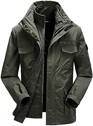 WPEW-Hommes's Coats en Plein air Hommes Veste imperméable Chaud Amovible