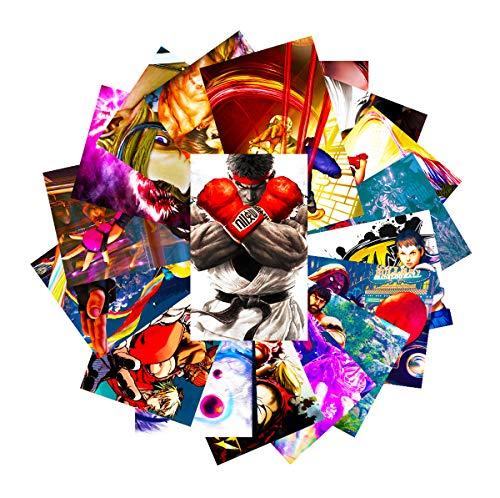 GTOTd Aufkleber für Street Fighter, 20 Stück, Vinyl-Aufkleber für Laptop, Wasserflasche, Fenster, Geschenk, Teens, Autos, Sammlung, Skateboard, etc.