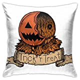 Trick R Treat Sam Home Decorative Throw Pillow Covers Bed Sofa Couch Cushion Square Pillow Case 18x18 Inch