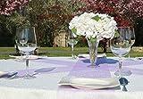 AmaCasa Vlies Tischband 23cm/20m Rolle Tischläufer Flower Vlies Hochzeit Kommunion (Flieder, Vlies) - 3