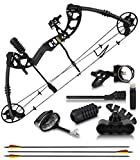 """2020 Compound Bow and Arrow for Adults and Teens – Hunting Bow with Gordon Limbs Made in USA - Fully Adjustable for Women and Youth 30-70 LBS, 23.5-30.5"""" - 320 FPS Speed – 5-Pin Sight, Quiver - Right"""