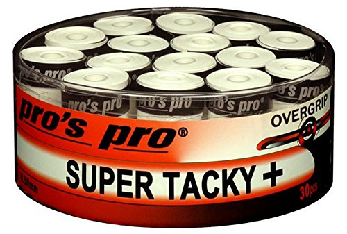 30 Overgrip Super Tacky Plus Tennis Griffbänder weiss
