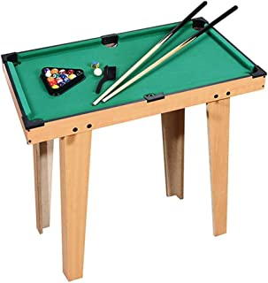 Deluxe Wooden Mini Table Top Pool | Small Billiards Game with 16 Resin Balls, 2 Pool Cues, Triangle Rack, and Chalk | Trav...