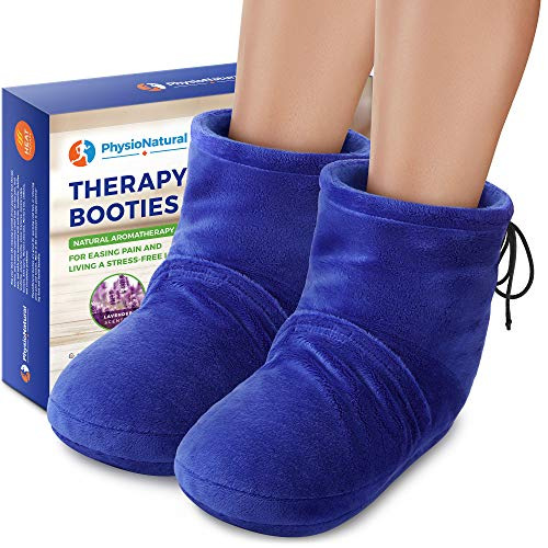 Microwaveable Booties and Feet Warmers - Deep-penetrating heat for relieving foot stiffness, sore muscles and joints, Achilles tendinitis, plantar fasciitis, stress fractures, and circulatory problems