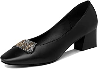[イグル] パンプス レディース 快適 走れる ポインテッドトゥ美脚 日常 歩きやすい 快適 エレガント 細見え シンプル ブラック 柔らかい 歩きやすい カジュアル 通勤 通学 オフィス レディース 歩きやすい 痛くない 美脚 太めヒール