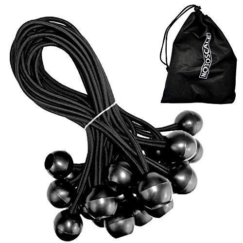 Motoscale 25 Profi Spanngummis mit Kugel 18cm schwarz | Expanderschlingen | Expander | Planenspanner – Planen, Pavillon, Zelte