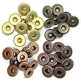 We R Memory Keepers 41595-4 Eyelets for Scrapbooking, Warm Metal, Wide