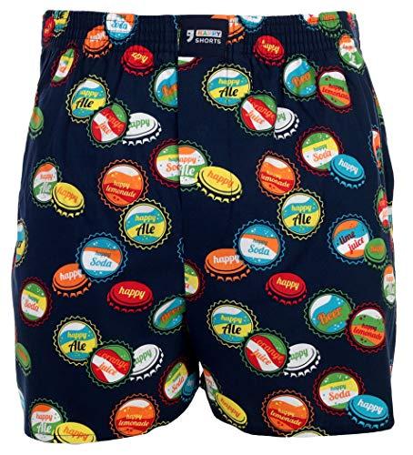 Happy Shorts Webboxer Herren Boxer Motiv Boxershorts Farbwahl, Grösse:L - 6-52, Präzise Farbe:Design 18