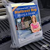 UltraBlock Mattress Bag for Moving, Storage or Disposal - King and Cal King Size Heavy Duty Triple Thick 6 Mil Tear...