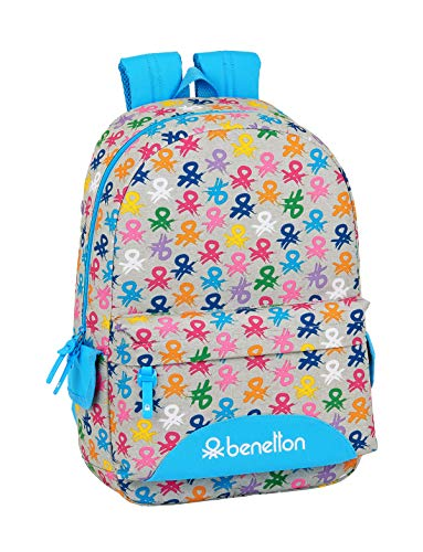 Mochila Safta Escolar de Benetton, 300x140x460mm