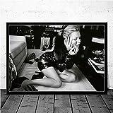 JYWDZSH Leinwanddruck Brigitte Bardot Klassische Fotografie Mädchen Poster Drucke Wandbild Leinwand Malerei Room Home Decoration