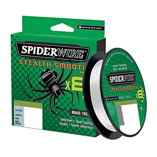 Tresse Spiderwire Stealth Smooth 8 Brins 300M Translucide - 0,13Mm - 12,7Kg - 1515662