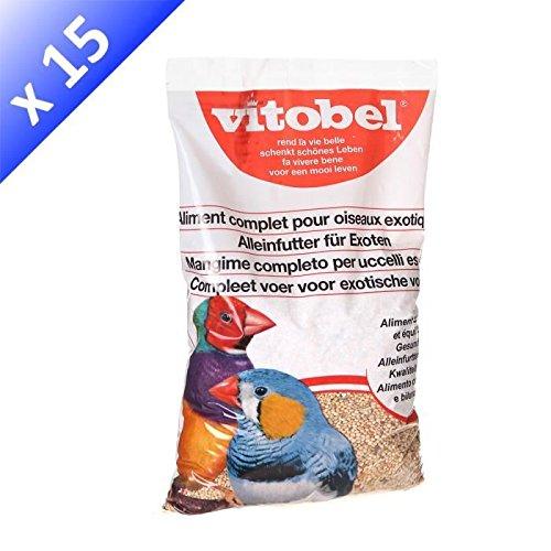 VITAKRAFT Menu exotique coussin - Mélange de graines - Pour oiseaux exotiques - 850g (x15)