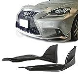 GT-Speed - TRD Style Front PU Bumper Add-on Lip Splitters - Compatible With 2014-2016 Lexus IS250 IS350 F-Sport Sedan 4DR Only (Not Compatible With Base, IS-F or IS-C Models)