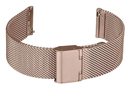 FIREFOX Mesh Ersatz- Uhrenarmband Milanaise Edelstahl rosevergoldet Breite 20mm Standard-Größe MSB-0