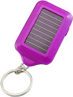 Mini LED Flashlight Keychain Portable Keyring Light Torch Key Chain 3 Led Light Emergency Camping Lamp Backpack Light - Purple