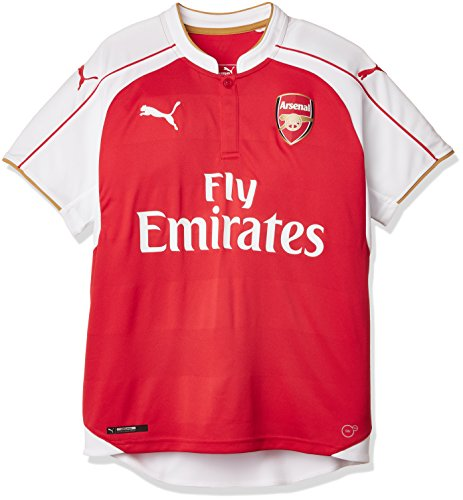 PUMA AFC Home R Arsenal Maillot Garçon, High Risk Red/White/Victory Gold, FR : 12 Ans (Taille Fabricant : 152)