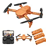 YIFAFA HJ78 Drone with Camera, WiFi FPV Foldable RC Quadcopter ,Profissional Obstacle Avoidance 4K HD Drone ,One Key Return Drone for Adults/Teens,3 Batteries