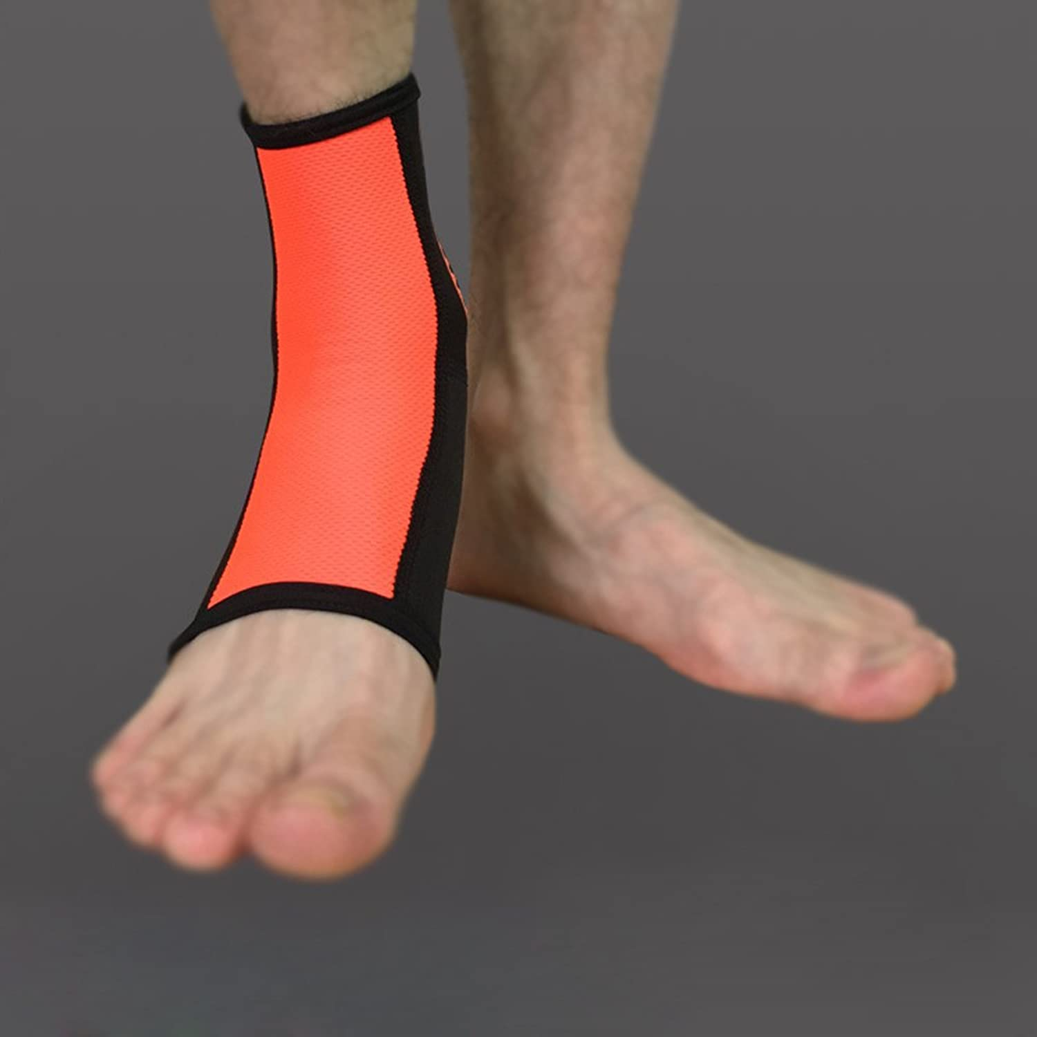 Ankle stabilizers Compression Socks Ankle Support Ankle Compression Sleeves MMA shin Guard Fasciitis Socks AntiKicking Socks orange,M