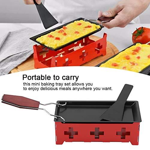 Fundidor de queso Raclette de acero al carbono, molde para fundir queso a la luz de las velas, sólido para hogar para adultos para cocina para regalo