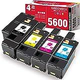 【GREENBOX】NEC用5600C互換トナーカートリッジ 大容量 PR-L5600C-19+PR-L5600C-18+ PR-L5600C-17+PR-L5600C-16 4色合計4本セット 対応機種:MultiWriter 5600C MultiWriter 5650C MultiWriter 5650F