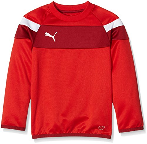 PUMA Kinder Mantel Spirit II Training Sweat, puma red/White, 128, 654656 01