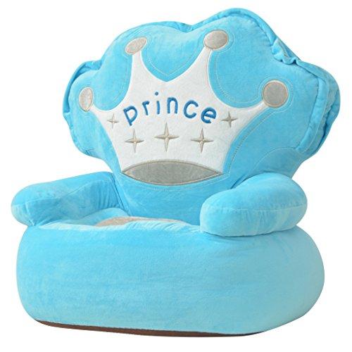 Festnight Plüsch-Kindersessel Sessel Babysessel Kinderm?bel 52 x 48 x 50 cm für Spielzimmer oder Kinderzimmer - Prinz Blau