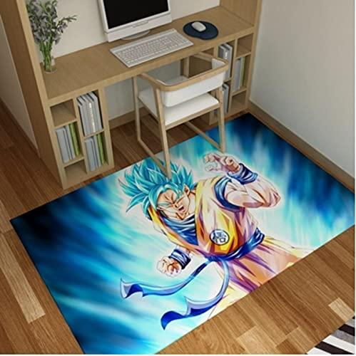Alfombrilla de Dragon Ball Z, Alfombra de Anime de Goku, Almohadilla de cabecera de Super Saiyan, alfombras de área de decoración del hogar de Hada Tortuga 120x200cm