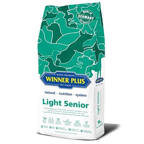 WINNER PLUS Light Senior 18 kg - Alimento leggero per cani poco attivi, sterilizzati, in sovrappeso o anziani