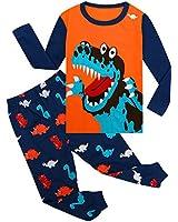 WWEXU Boy Pajamas Children Sleepwear Long Sleeve Pajamas Set Kids Clothes Size 12M-12Year PJS